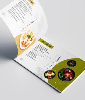 Презентация и верстка меню для кафе