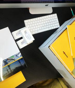 Производство фирменной папки для компании Borung