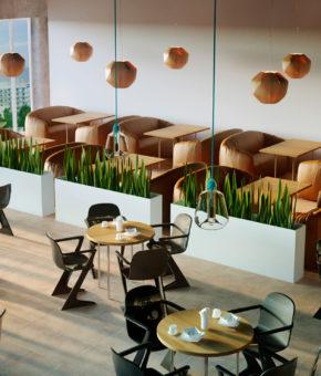 Разработка дизайна интерьеров для корпоративного кафе