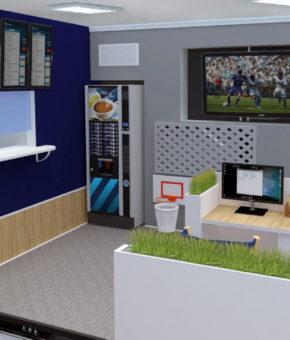 Дизайн интерьера для букмекерской компании