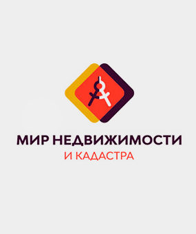 Логотип для мира недвижимости и кадастра